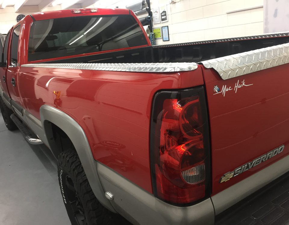 Chevrolet Silverado ramen blinderen