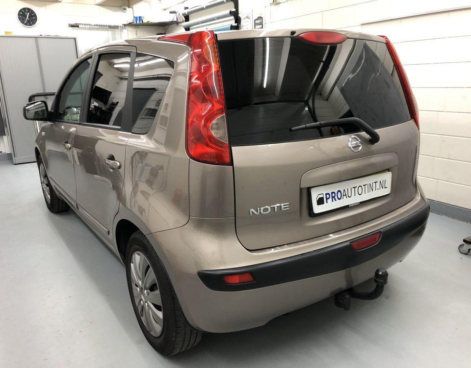 Nissan Note ramen blinderen