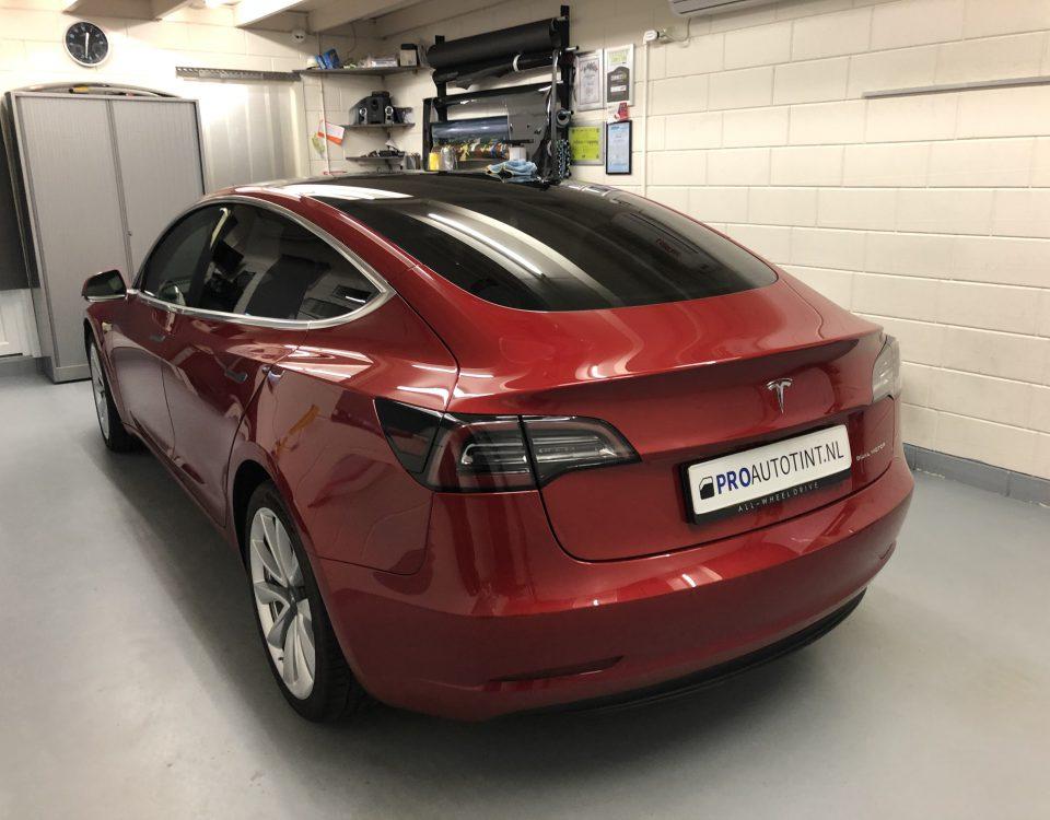 Tesla model 3 ramen blinderen